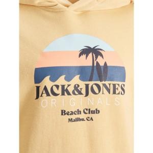ΠΑΙΔΙΚΟ ΦΟΥΤΕΡ ΜΕ ΚΟΥΚΟΥΛΑ BEACH CLUB JACK & JONES JUNIOR ΚΙΤΡΙΝΟ ΑΓΟΡΙ