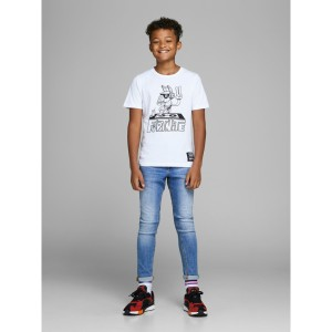 ΠΑΙΔΙΚΟ TZIN JACK & JONES JUNIOR BLUE DENIM SKINNY ΜΠΛΕ ΑΓΟΡΙ